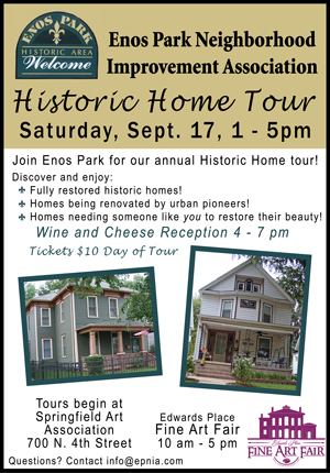 EPNIA Home Tour, Fall 2016, September 17, 1-5 pm.