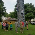 National Night Out Rock Wall