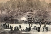 Abraham Lincoln burial drawing