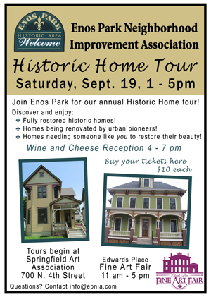 EPNIA Home Tour, Fall 2015, September 19, 1-5 pm.
