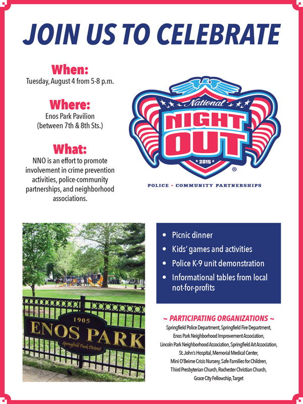Enos Park National Night Out Flyer 2015