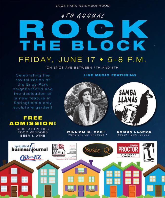 The 4th Annual Rock the Block - Friday, June 17, 5-8pm.