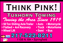 Tuxhorn Towing is one of the cornerstone businesses at the northern edge of Enos Park North Grand and 6th Street. The Tuxhorn family has lived in the neighborhood for many years and both good neighbors as home owners as well as a business sponsor.